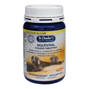 قرص مولتی ویتامین دکتر کلودرز،ترکیب کاملی از کلیه ویتامین ها و بتاگلوکان مخمری مخصوص سگ 200gr