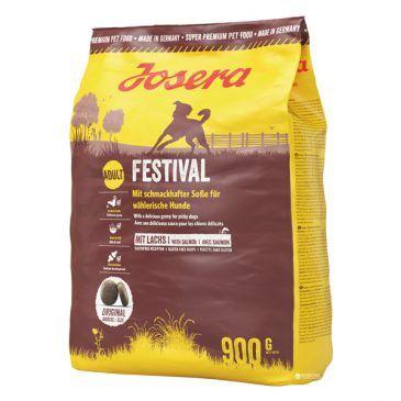 غذای خشک فستیوال جوسرا مخصوص سگ بالغ کلیه نژادها حاوی گوشت ماهی سالمون بهمراه سس مخصوص با قابلیت مصرف بصورت خشک و یا مرطوب شده  900gr