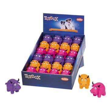 اسباب بازی لاتکس صدادار نوبی طرح گاو در 3 رنگ مختلف بهمراه استند رومیزی، 24 عددی، 8.5 سانتی متر