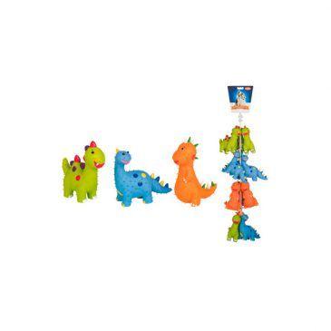 اسباب بازی لاتکس صدادار نوبی طرح دایناسور خاردار در 3 طرح و رنگ مختلف، 12 عددی، 15.5 سانتی متر