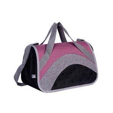 کیف حمل نوبی مناسب برای تا وزن 6 کیلوگرم، رنگ خاکستری- صورتی، ابعاد 41*27*27 سانتی متر