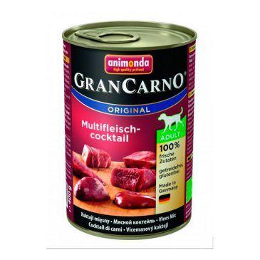 كنسرو گرن کارنو حاوی گوشت شكار، گوساله و مرغ، مخصوص سگ بالغ 400gr