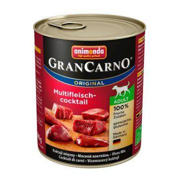 كنسرو گرن کارنو حاوی گوشت شكار، گوساله و مرغ، مخصوص سگ بالغ 800gr