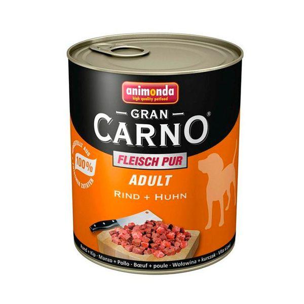کنسرو گرن کارنو حاوی گوشت گاو و مرغ مخصوص سگ بالغ 800gr