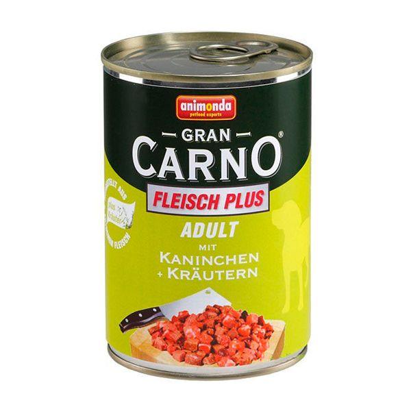 كنسرو گرن کارنو حاوی گوشت گاو، خرگوش و سبزیجات مخصوص سگ بالغ 400gr