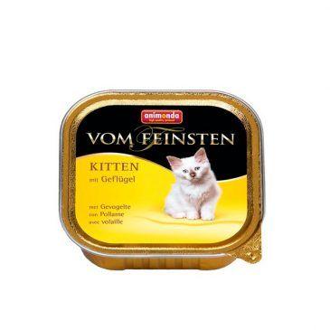 ووم فیستن حاوی گوشت پرندگان مخصوص بچه گربه 100gr
