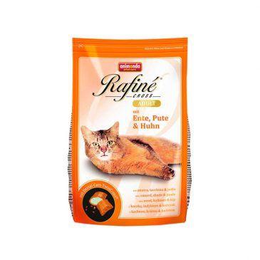 غذای خشک رافینه کراس حاوی گوشت اردک، بوقلمون و مرغ، مخصوص گربه بالغ 1500gr