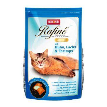 غذاي خشك رافينه كراس حاوي گوشت مرغ، سالمون و ميگو مخصوص گربه بالغ 1500gr