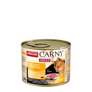 کنسرو کارنی پته حاوی گوشت گاو، مرغ و دل اردک مخصوص گربه بالغ 200gr