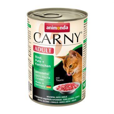کنسرو کارنی پته حاوی گوشت گاو، بوقلمون و خرگوش مخصوص گربه بالغ 400gr