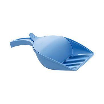 بیلچه چند منظوره استفان پلاست(مناسب برای غذای خشک و خاک گربه ) رنگ آبی روشن بهمراه محفظه - ابعاد 11*12.5*27.5 سانتی متر