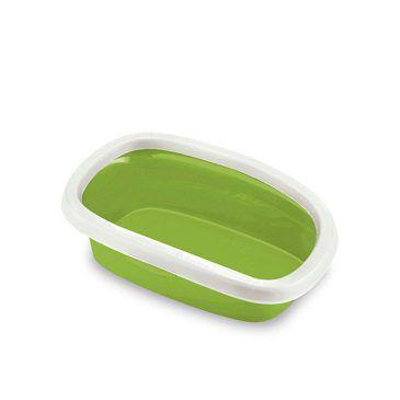 توالت گربه استفان پلاست مدل اسپرینت 20 رنگ سبز فسفری، ابعاد 17*58*39  سانتی متر