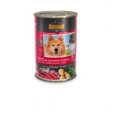 کنسرو بیف + سیب زمینی و نخود سبز بلکاندو مخصوص سگ بالغ 400gr