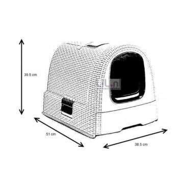 باکس توالت مسقف گربه مدل موکا/ دودی