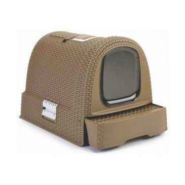 باکس توالت مسقف گربه مدل موکا/ قهوه ای