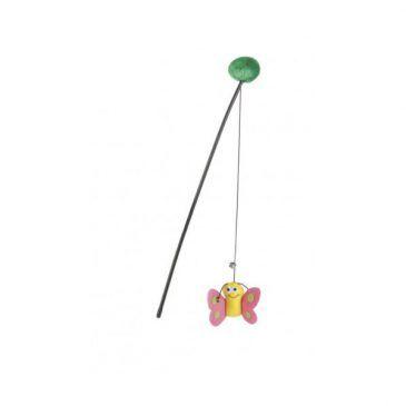 اسباب بازی میله و ریسمان گربه با پروانه/ 40 سانتی
