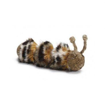 اسباب بازی کت نیپ گربه به شکل کرم/ 10 سانتی