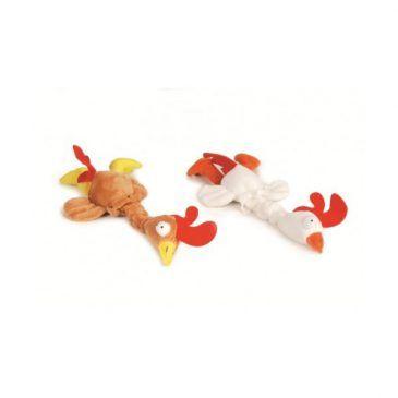 اسباب بازی خروس مخملی پرنده مخصوص سگ/ صدادار