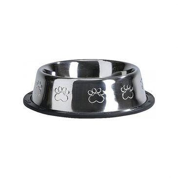 ظرف استیل سگ و گربه با طرح پنجه برجسته/ 0.45 لینر