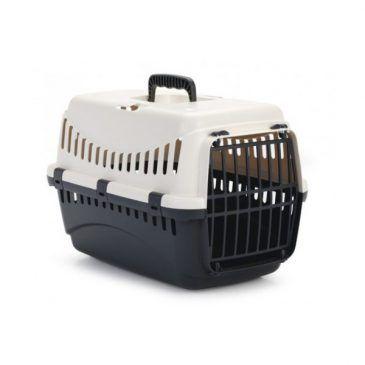 باکس حمل Gypsy با درب پلاستیکی مخصوص سگ های کوچک و گربه/ کرم - دودی