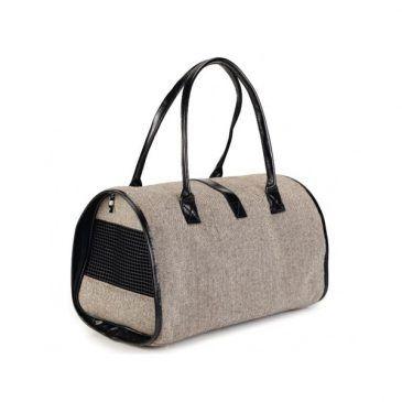کیف حمل جیب دار سگ و گربه مخصوص مسافرت/ Travel Bag Tweed