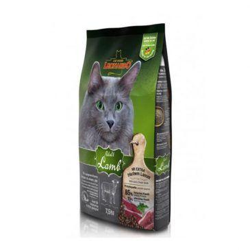 غذای خشک بره و برنج لئوناردو مخصوص گربه حساس و بدغذا 7500gr