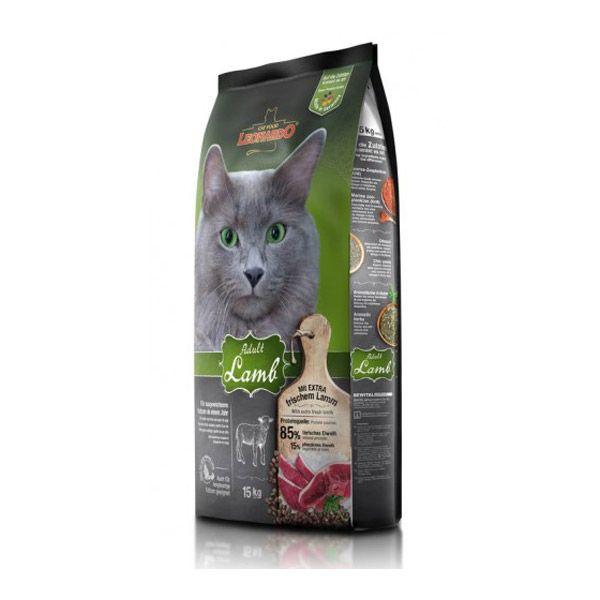 غذای خشک بره و برنج لئوناردو مخصوص گربه حساس و بدغذا 15000gr