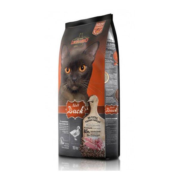 غذای خشک اردک و برنج لئوناردو مخصوص گربه حساس و بدغذا 15000gr