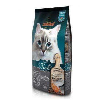 غذای خشک ماهی و برنج لئوناردو مخصوص گربه حساس و بدغذا 7500gr