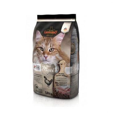 غذای خشک لئوناردو مخصوص گربه نژاد بزرگ با دانه بندی درشت 1800gr