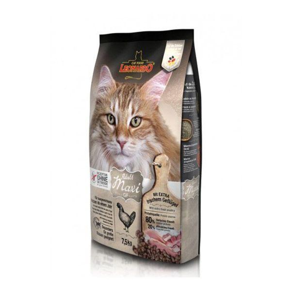 غذای خشک لئوناردو مخصوص گربه نژاد بزرگ با دانه بندی درشت 7500gr