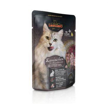 پوچ گوشت خرگوش و قره قاط لئوناردو مخصوص گربه بالغ 85gr