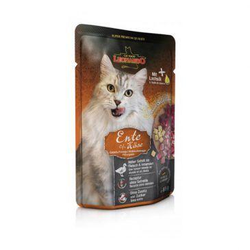 پوچ گوشت اردک و پنیر لئوناردو مخصوص گربه بالغ 85gr