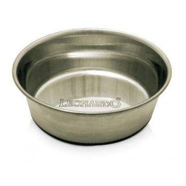 ظرف استیل سنگین گربه و سگ با کف تمام استاپ لئوناردو
