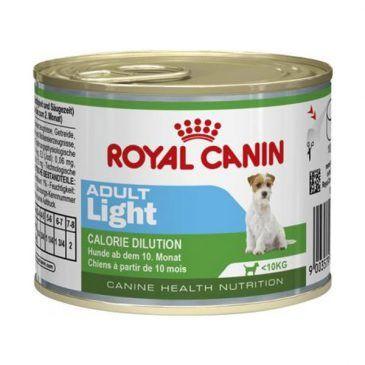 کنسرو رژیمی رویال کنین مخصوص سگ بالغ نژاد کوچک مستعد چاقی 195gr
