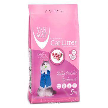 خاک گربه ون کت اولتراکلامپینگ با رایحه پودر بچه حاوی مواد آنتی باکتریال - 5 کیلوگرم