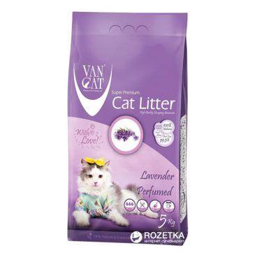 خاک گربه ون کت اولتراکلامپینگ با رایحه لاوندر حاوی مواد آنتی باکتریال - 5 کیلوگرم