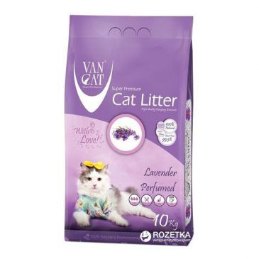 خاک گربه ون کت اولتراکلامپینگ با رایحه لاوندر حاوی مواد آنتی باکتریال - 10 کیلوگرم