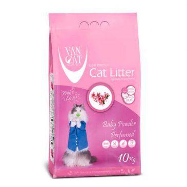 خاک گربه ون کت اولتراکلامپینگ حاوی مواد آنتی باکتریال مخصوص گربه حساس - کارتن 10 کیلوگرم