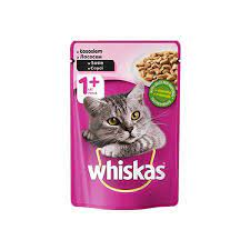 پوچ گربه با طعم سالمون 100گرمی برند Whiskas