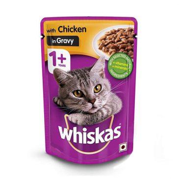 پوچ گربه با طعم مرغ 100گرمی برند Whiskas